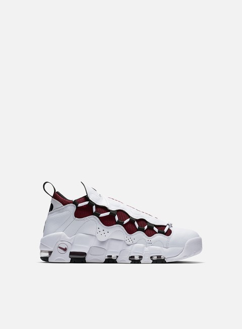 sneakers nike air more money white black team red