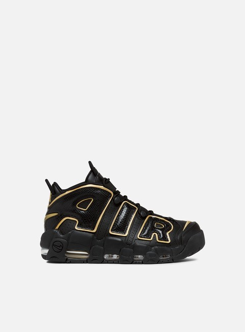 sneakers nike air more uptempo 96 france qs black metallic gold