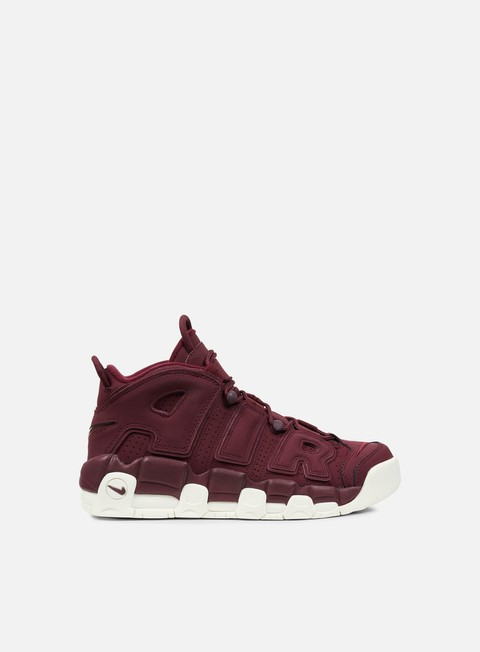 sneakers nike air more uptempo 96 qs night maroon night maroon sail