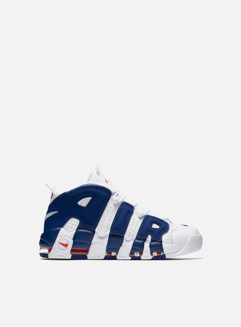 sneakers nike air more uptempo 96 white deep royal blue team orange