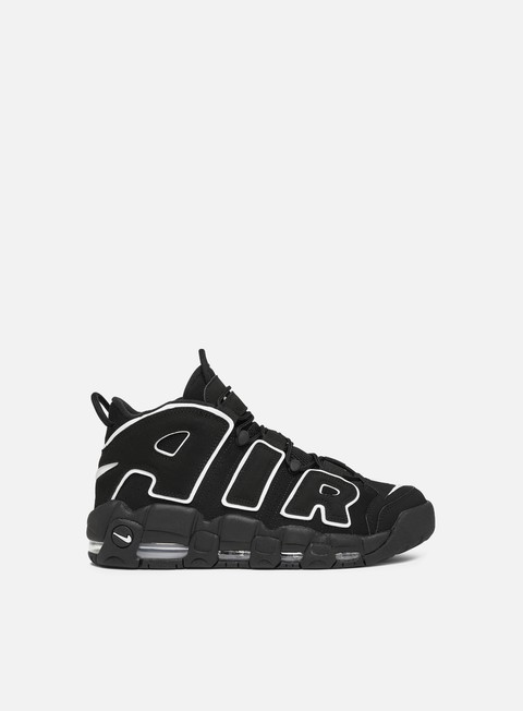 sneakers nike air more uptempo black white black