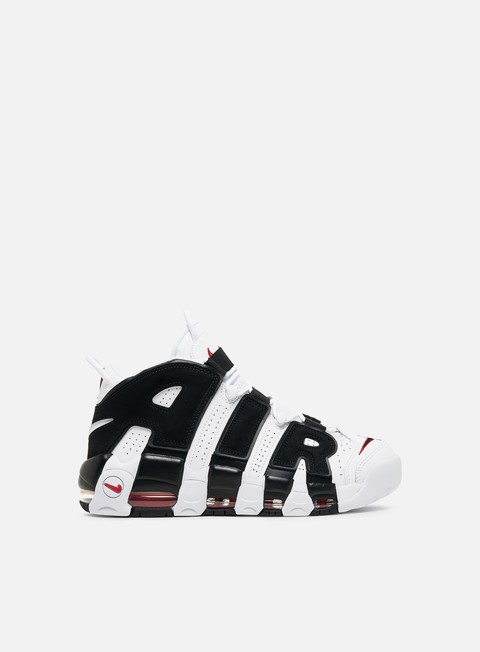 sneakers nike air more uptempo white black university red