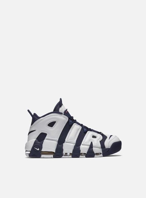 sneakers nike air more uptempo white midnight navy metallic gold