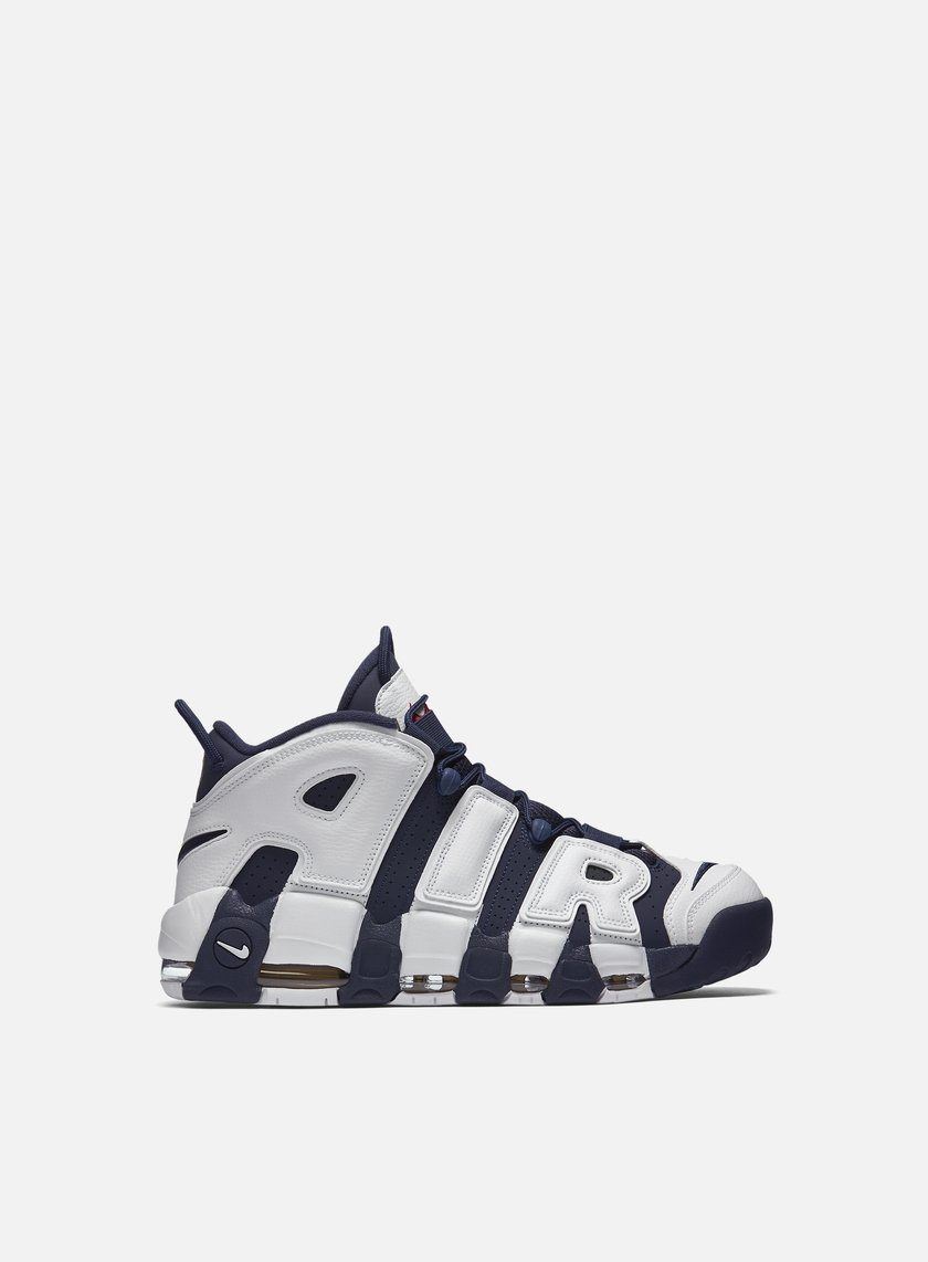 Nike - Air More Uptempo, White/Midnight Navy/Metallic Gold