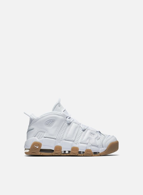 sneakers nike air more uptempo white white gum light brown