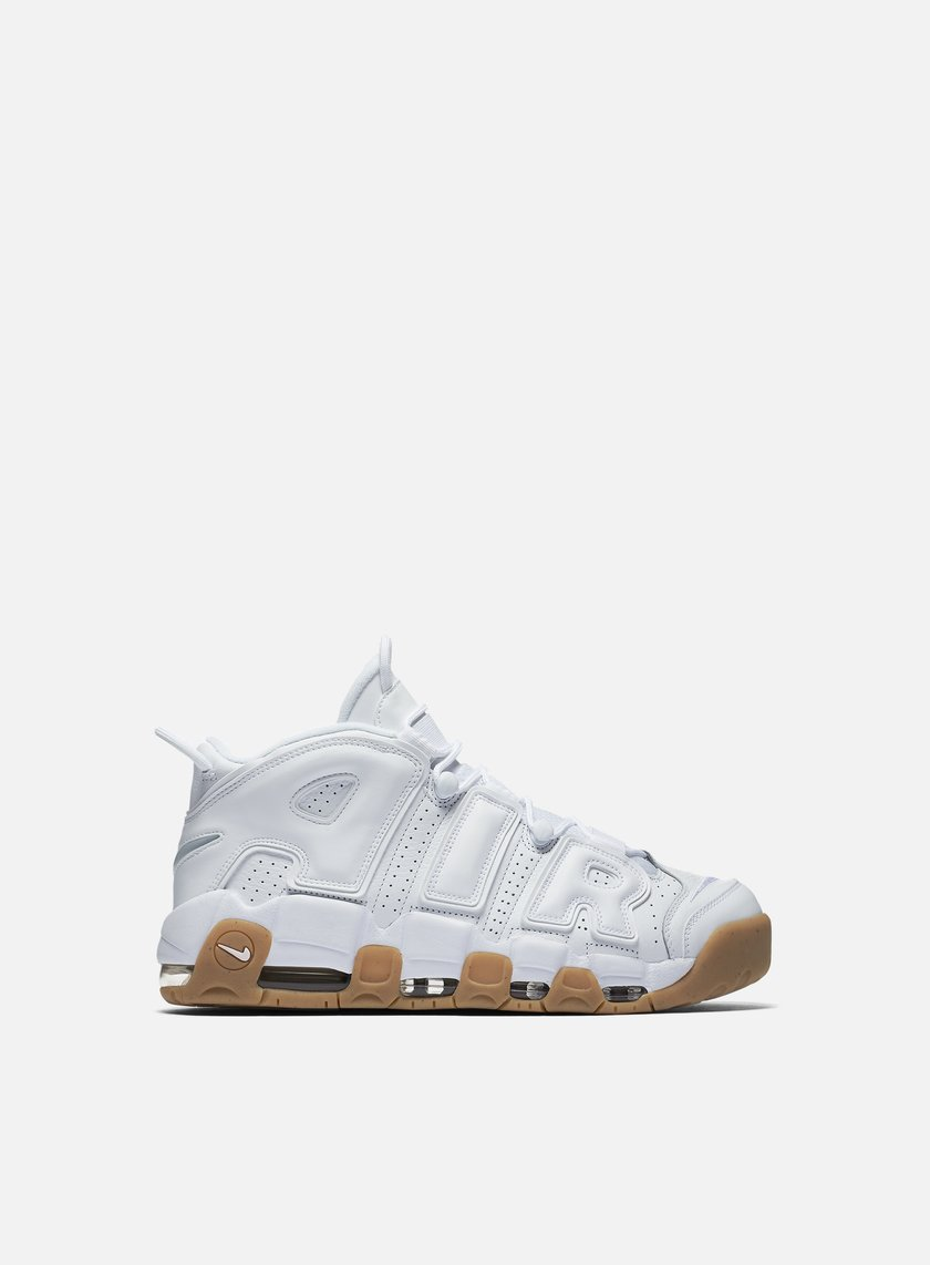 Nike - Air More Uptempo, White/White/Gum Light Brown