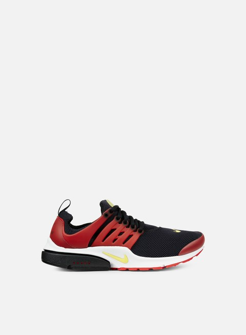sneakers nike air presto essential black tour yellow university red