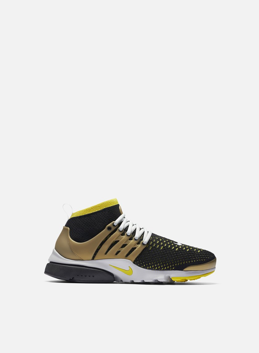 Nike - Air Presto Flyknit Ultra, Black/Yellow Streak/Metallic Gold