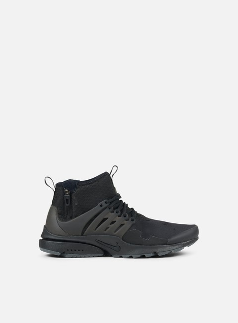 sneakers nike air presto mid utility black black dark grey