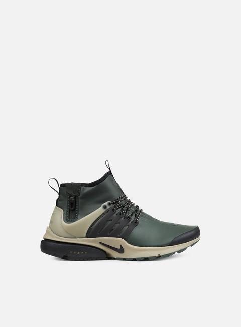 sneakers nike air presto mid utility groove green black khaki