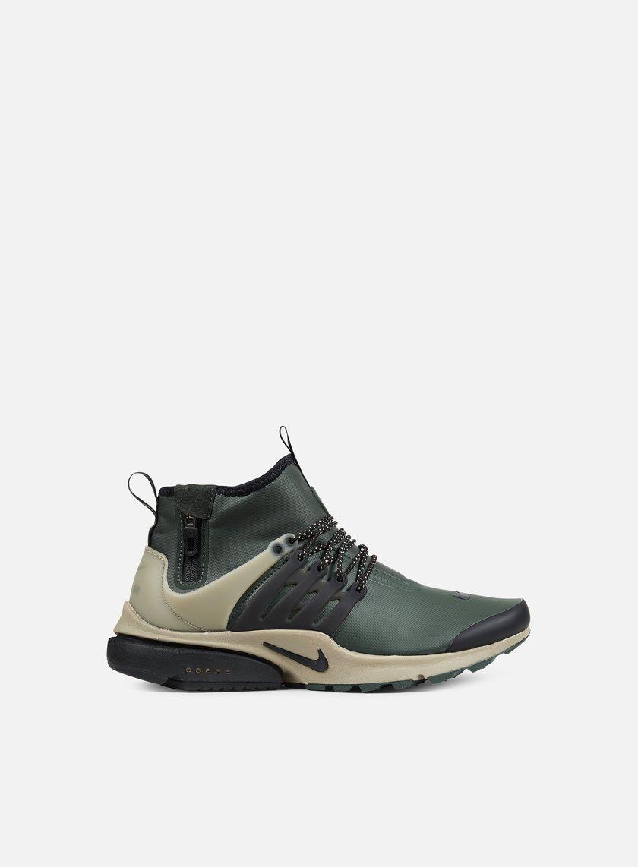 Nike - Air Presto Mid Utility, Groove Green/Black/Khaki