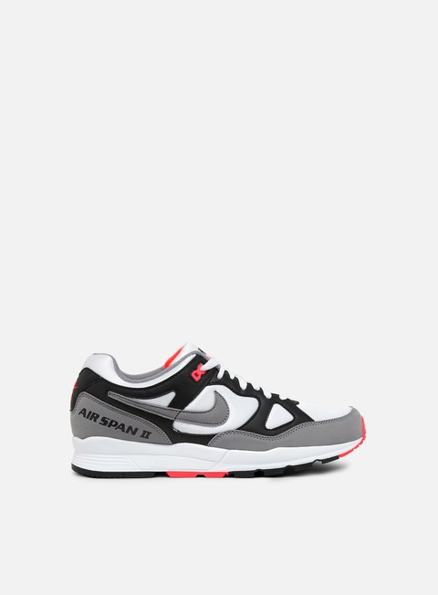 sneakers nike air span ii black dust solar red