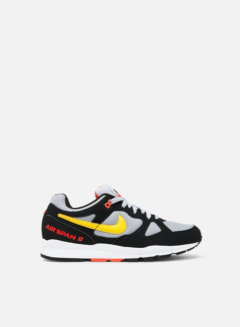sneakers nike air span ii black yellow ochre wolf grey