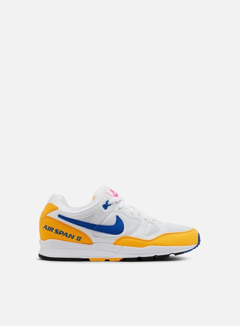 sneakers nike air span ii white hyper royal laser orange