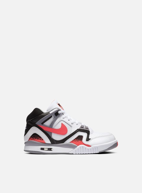 sneakers nike air tech challenge ii white black hot lava