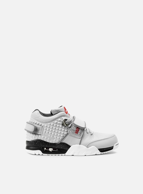 sneakers nike air trainer v cruz wolf grey metallic silver black bright crimson