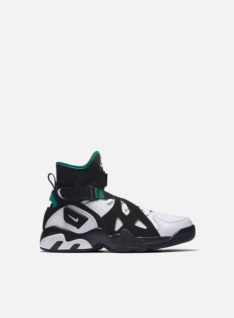 sneakers nike air unlimited black white deep emerald