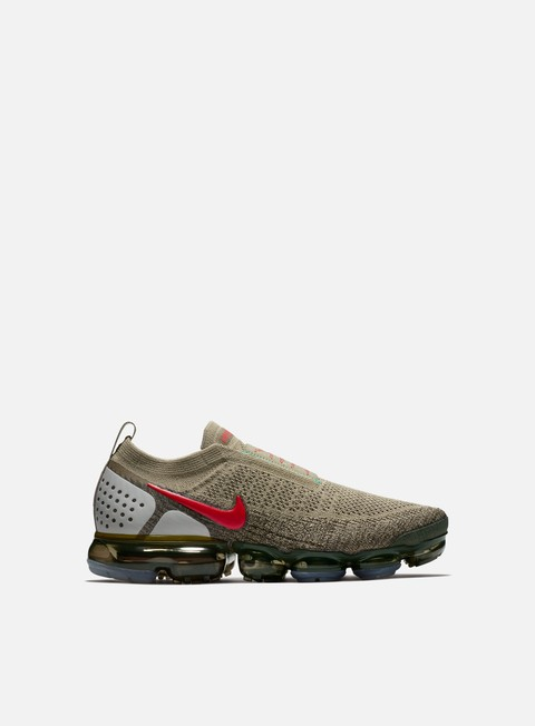 sneakers nike air vapormax flyknit moc 2 olive habanero red