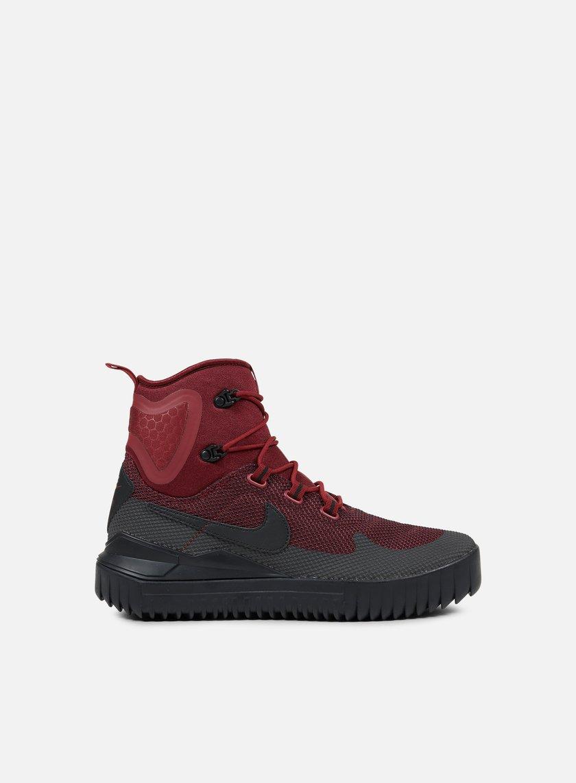 Nike - Air Wild Mid, Dark Team Red/Black/Port Wine
