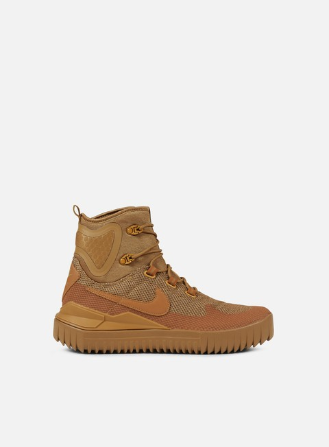 sneakers nike air wild mid golden beige ale brown