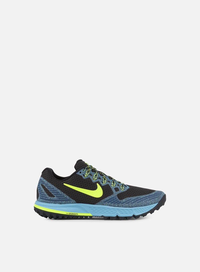 Nike - Air Zoom Wildhorse 3, Black/Volt/Gamma Blue