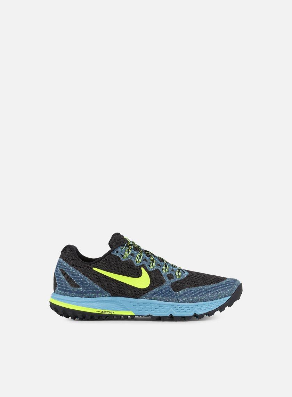 Nike - Air Zoom Wildhorse 3, Black/Volt/Gamma Blue