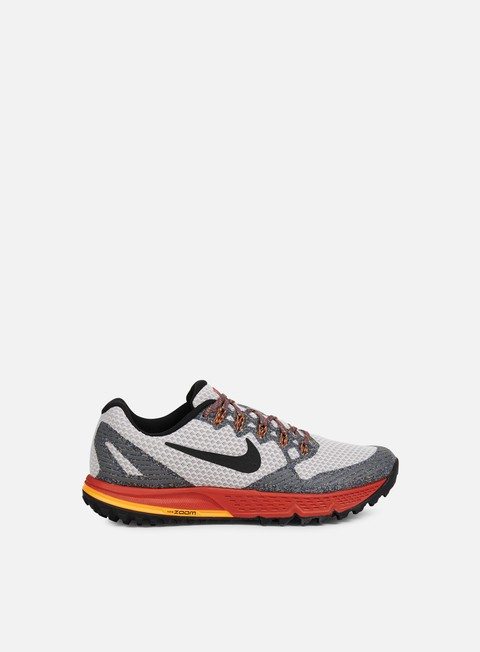 sneakers nike air zoom wildhorse 3 light iron ore black red reef