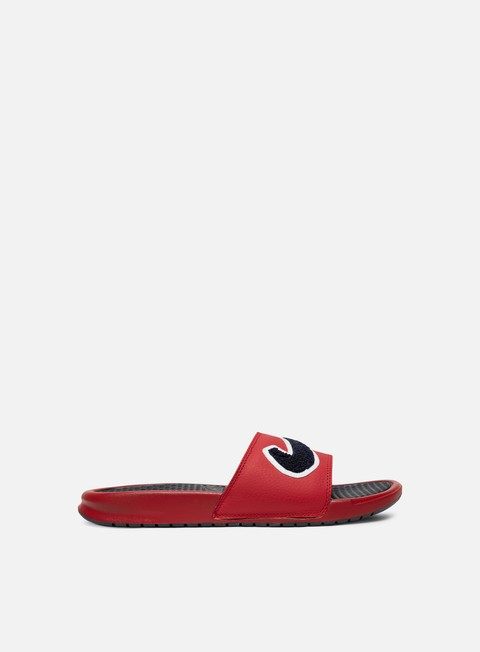 sneakers nike benassi jdi chenille gym red obsidian white dark obsidian