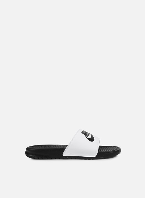 sneakers nike benassi jdi mismatch black white