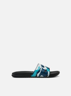 Nike - Benassi JDI Print, Black/Pure Platinum