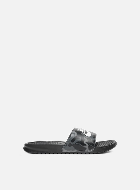 sneakers nike benassi jdi print black summit white