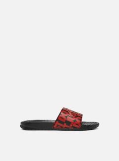 Nike - Benassi JDI Print, Black/University Red