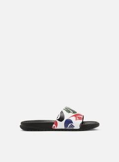Nike - Benassi JDI Print, Black/White/Multi Color/Black