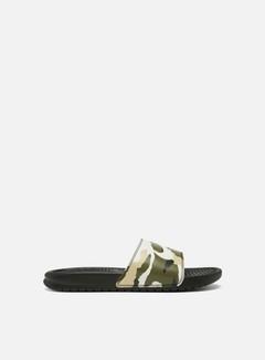 Nike - Benassi JDI Print, Sequoia/Pale Ivory/Team Gold