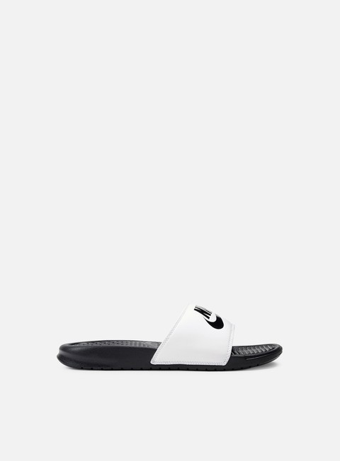 sneakers nike benassi jdi white black black