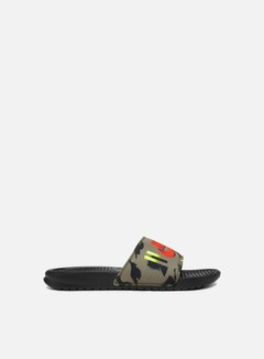 Nike - Benassi, Medium Olive/Bright Crimson