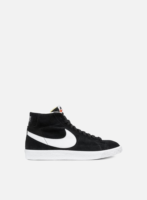 sneakers nike blazer mid prm black white gum light brown