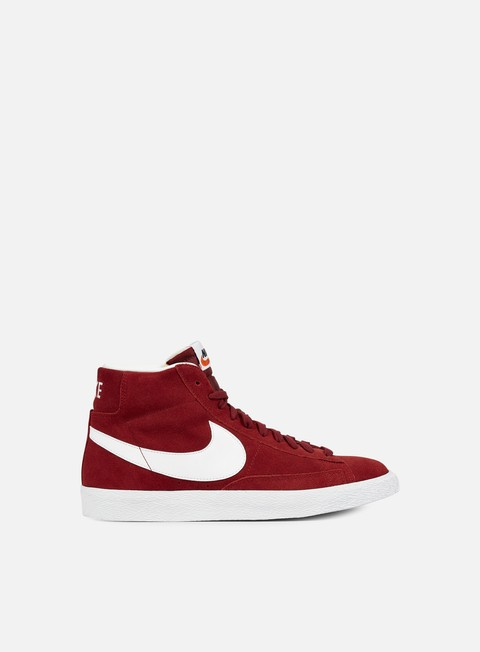 sneakers nike blazer mid prm team red white gum light brown