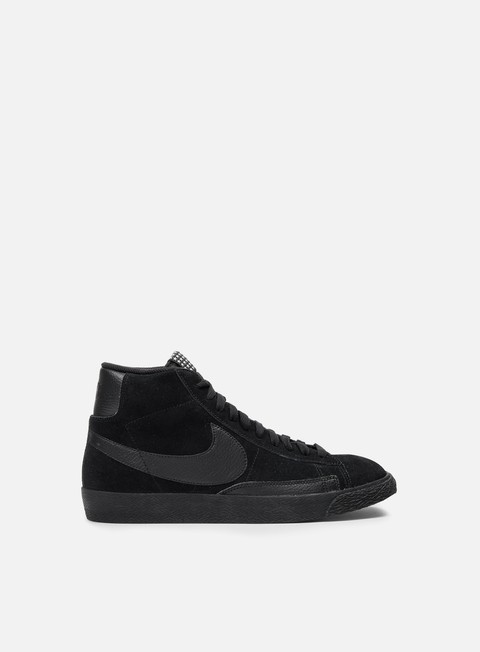 sneakers nike blazer mid prm vntg black black gum light brown