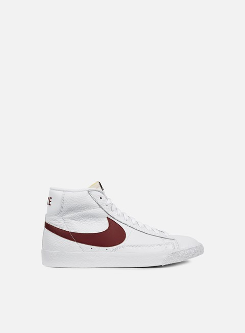 sneakers nike blazer mid retro white team red white