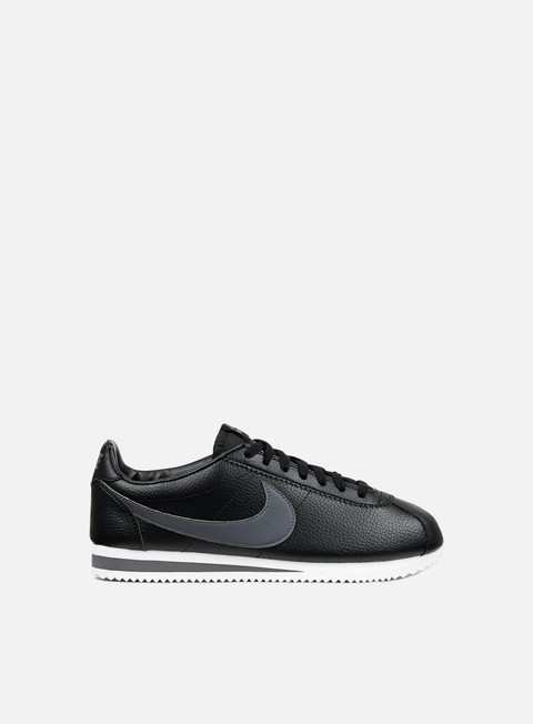 sneakers nike classic cortez leather black dark grey white