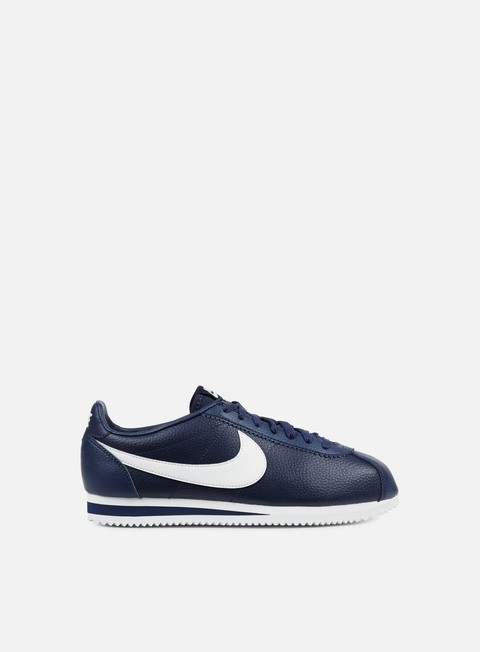 sneakers nike classic cortez leather midnight navy white