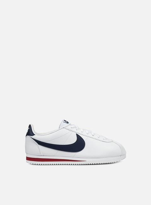 sneakers nike classic cortez leather white midnight navy gym red