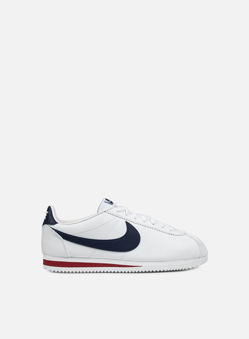Nike - Classic Cortez Leather, White/Midnight Navy/Gym Red
