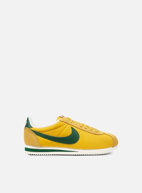 sneakers nike classic cortez nylon premium yellow ochre gorge green sail
