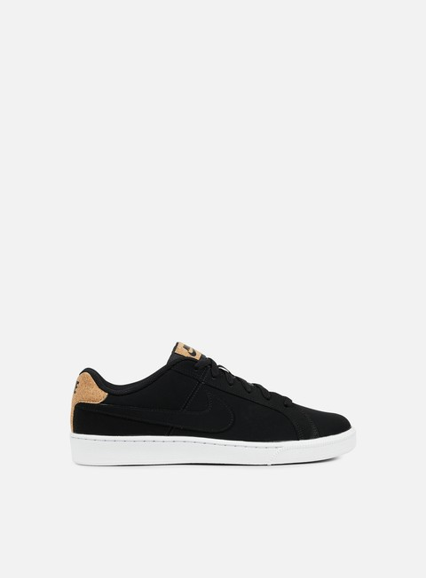 sneakers nike court royale premium black black white