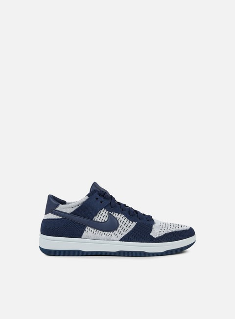 sneakers nike dunk flyknit college navy wolf grey