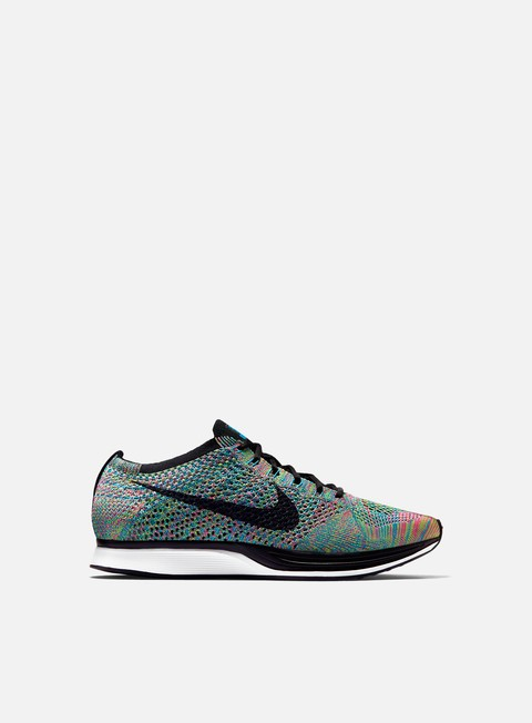 sneakers nike flyknit racer green strike black blue lagoon