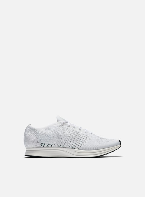 sneakers nike flyknit racer white sail pure platinum