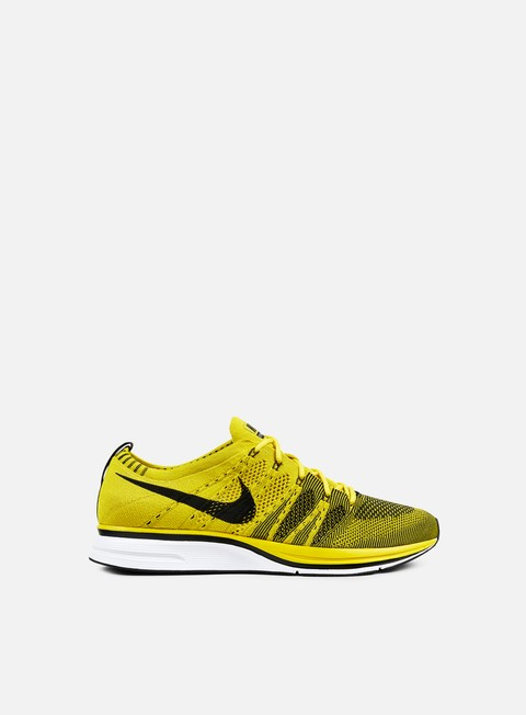 sneakers nike flyknit trainer bright citron black white